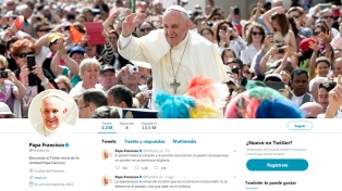 El Papa superó los 40 millones de seguidores en Twitter