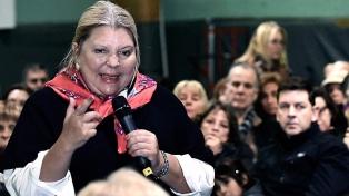 """Carrió: """"El kirchnerismo quiso deslegitimar a gendarmería para quitarle valor a la pericia de Nisman"""""""