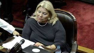 """Carrió dijo que estaba """"harta del progresismo estúpido"""", en plena sesión, y la oposición se fue del recinto"""