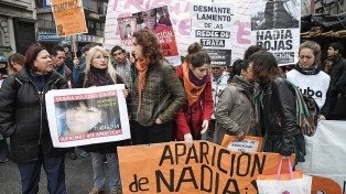 Familiares de Nadia y de víctimas de femicidio protestaron en el centro porteño