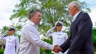 El vicepresidente de EEUU inició en Colombia una gira latinoamericana que mañana lo traerá a la Argentina