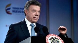 """Santos reivindicó el galeón San José como un """"tesoro"""" nacional"""