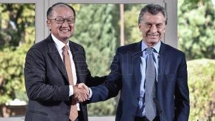Macri dió una conferencia de prensa junto al presidente del Banco Mundial en Olivos