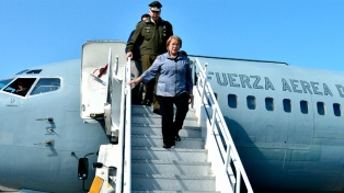 Bachelet llegó a Honduras para una visita oficial