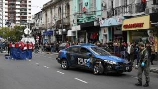 Una mujer murió atropellada tras un choque múltiple que involucró a un patrullero en Belgrano