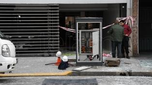 Un herido por una explosión en un edificio en Barrio Norte