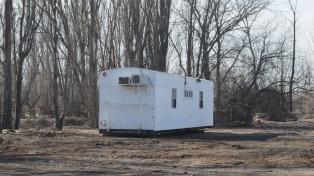 Instalaron trailers para albergar a familias sin vivienda por el temporal