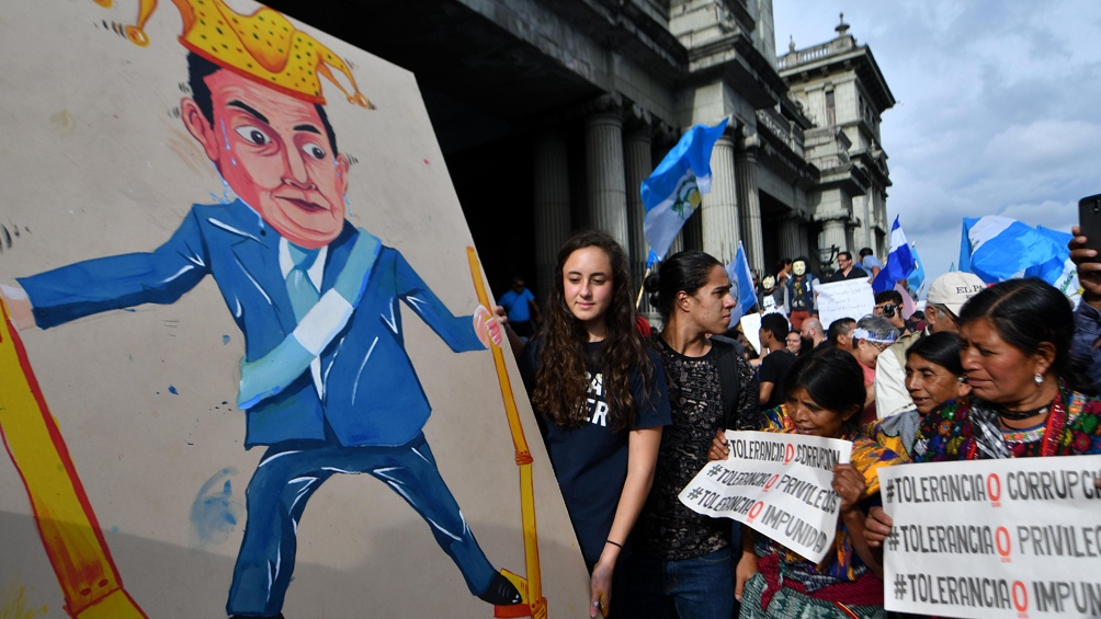 Una de las tantas protestas contra el actual mandatario Jimmy Morales