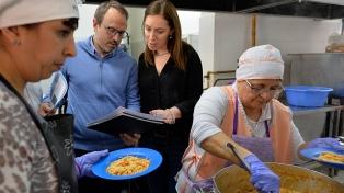 Vidal supervisó el valor nutricional de alimentos que se dan a los alumnos