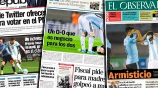 """Los diarios uruguayos coincidieron en que el empate le """"sirvió"""" a los dos equipos"""