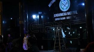 Atacaron con piedras una sede de la mutual de Gendarmería en Capital Federal