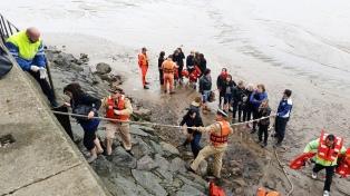 Evacúan a pie a pasajeros de un catamarán que quedó varado cerca de la costa de Olivos