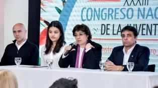 El Congreso de la Juventud y un desfile primaveral abrieron la Fiesta Nacional de los Estudiantes