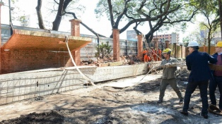 Macri supervisó las obras de remodelación en la Quinta de Olivos