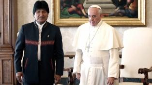 Evo Morales y el papa Francisco se reunirán el 15 de diciembre