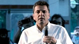 """Massa quiere un gobierno de coalición con eje en la """"producción y el trabajo"""""""