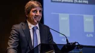 """Caputo: """"Argentina lleva casi 2 años recuperando la confianza del mundo"""""""