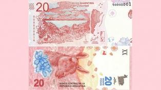 El Banco Central puso en circulación el nuevo billete de $20