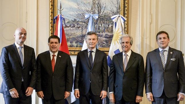 Argentina, Paraguay y Uruguay confirman candidatura conjunta para Mundial de fútbol 2030