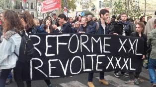 Huelga y protestas contra las reformas económicas de Macron