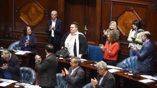 Michelle Suárez se convirtió en la primera senadora transexual uruguaya