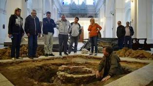 Insólito hallazgo de un pozo en la Catedral de Goya tras hundirse el suelo
