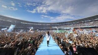 "Cristina Kirchner llamó a ""llenar las urnas de votos"""