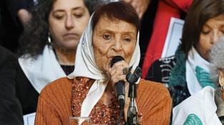 Organismos de DDHH repudiaron el robo de una placa en memoria de Alejandro Almeida, hijo de Taty