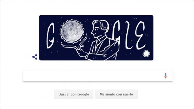 Google recuerda a famoso astrofísico con un doodle