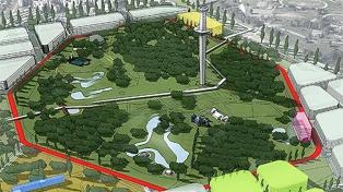 El nuevo Parque de la Ciudad estará integrado al futuro barrio olímpico