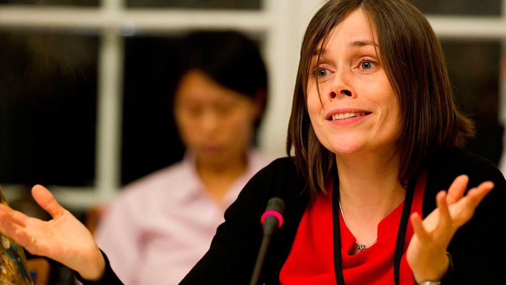 Katrín Jakobsdóttir (MIV), primera ministra de Islandia