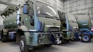 Entregan 39 camiones a las Fuerzas Armadas para brindar asistencia ante emergencias