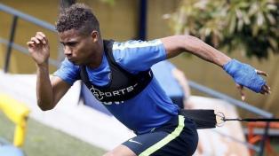 Barrios se entrenó diferenciado pero podría jugar ante Belgrano