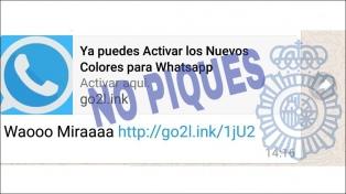 La policía española alerta sobre una estafa en Whatsapp