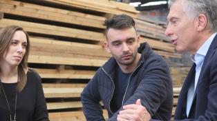 Macri visitó a un joven emprendedor en el municipio de Morón