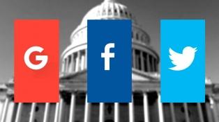 Google, Facebook y Twitter declararon ante el Senado de Estados Unidos