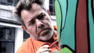 Milo Lockett protestó contra el desmonte frente a las oficinas de Coca Cola
