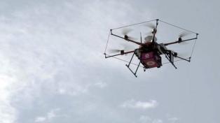 Una empresa estableció un servicio activo de entrega de correo con drones