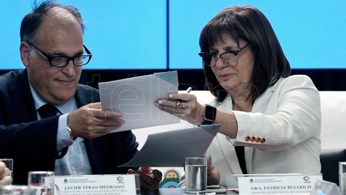 El ministerio de seguridad y la liga de espa a firmaron un for Ministerio de seguridad espana