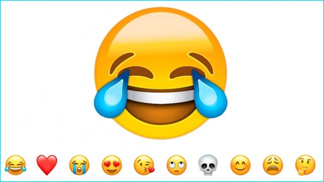 El emoji más usado es la cara con lágrimas de felicidad