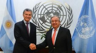 """Macri manifestó su """"preocupación"""" por Venezuela con el secretario general de la ONU"""