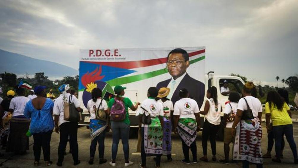 Campaña de Teodoro Obiang, presidente de Guinea Ecuatorial y líder del PDGE