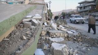 Rohani visitó zonas afectadas por el terremoto y ayudará a la reconstrucción