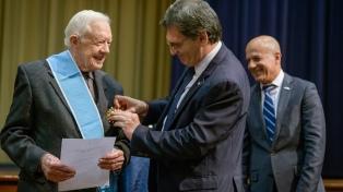 Argentina distinguió a Jimmy Carter por su lucha por los derechos humanos