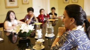La vicepresidenta se reunió con niños en el Día Mundial de los Chicos