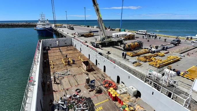 Comodoro Rivadavia: preparan el mini submarino de la Armada de EEUU