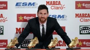 """Messi recibió el premio """"Alfredo Di Stéfano"""" al Mejor Jugador de la Liga de España"""