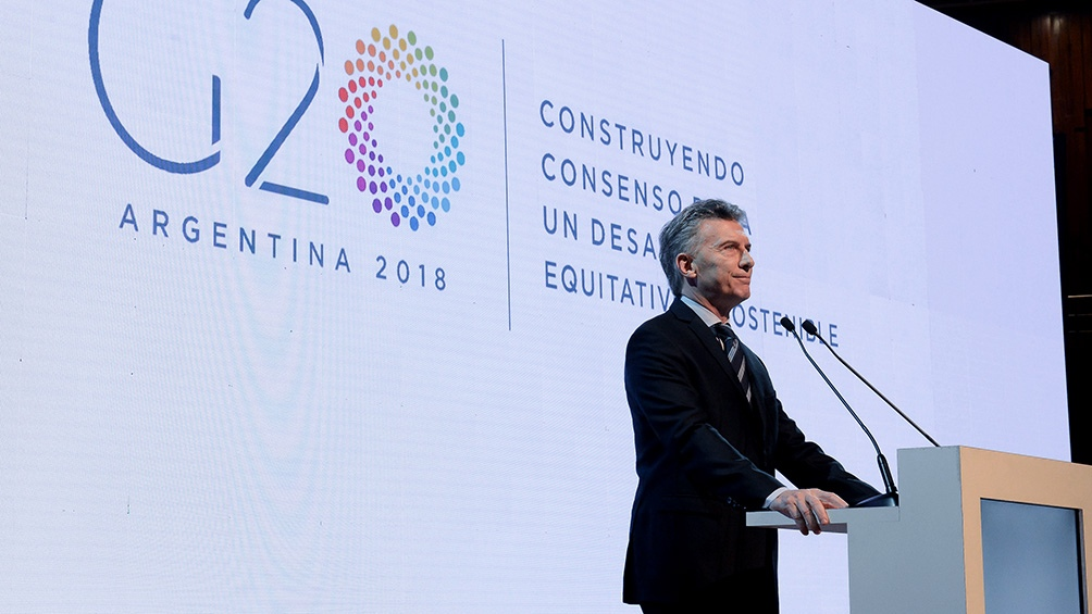 Mauricio Macri, Presidente de la Nación Argentina desde diciembre de 2015, presidente pro témpore del G20 y anfitrión de la Cumbre.