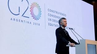 """Macri, al asumir la presidencia del G20: """"Estamos poniendo al país en el mundo"""""""