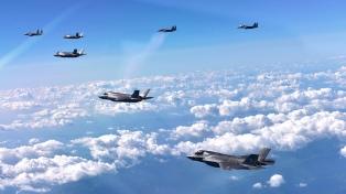 Washington y Seúl comenzaron un imponente ejercicio aéreo en el mar de Corea